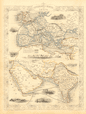 OVERLAND ROUTE TO INDIA. Ship France Germany Euphrates. TALLIS & RAPKIN 1851 map